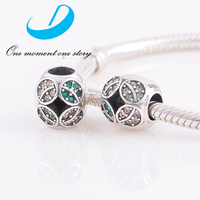 925 Sterling Silver Slider Beads Import Partner Charms Four Leaf Clover Silver Charms Beads Jewelry For Women