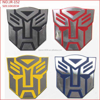 Transformer Emblem Sticker, Autobot Aluminium sticker, embossed metal sticker