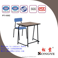 Original design popular melamine MDF school desk and chair