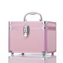 Fancy Baby Pink Handy Cosmetic Box Jewelry Box Case with Mirrow