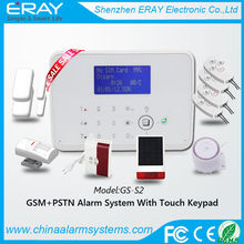GSM + PSTN temperature control electric fire alarm bells support Contact ID