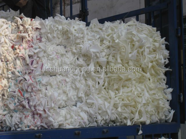 white PU Bra Scrap Foam