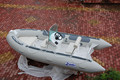 CE Hypalon/PVC military inflatable boat with outboard engine