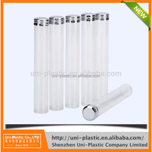 OEM Lenght 140mm OD 25mmx clear PET plastic food grade packaging tube