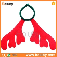 China cheapest red headband Reindeer Antler Christmas hair Ornament for Christmas party