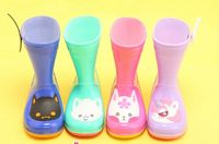 Fashion Cute Animal kids rain boots Match with kids rain coat kids Christmas gift PVC rain shoes