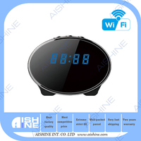 Best Selling Bedroom Table Alarm Clock P2P Wireless Hidden Security Spy Camera 1080P HD