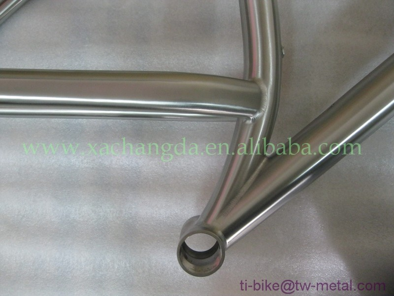 wholesale beach cruiser bicycle titanium fat bike frame made in china(taper head tube and sliding dropout)