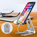 Foldable and Adjustable Aluminium Alloy Desktop Mobile Phone Stand Tablet PC Stand Cell Phone Stand