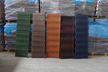 Color steel stone coated roof tile galvalume interlocking roof shingles