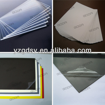Rigid PVC sheets in small sizes