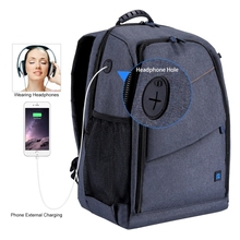 New Upgrade PULUZ Outdoor Portable Waterproof Scratch-proof Dual Shoulders Backpack Camera Bag