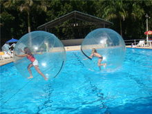 HI CE 2m grow in water balls clear floating water pool ball 1.0mm pvc water absorbing balls