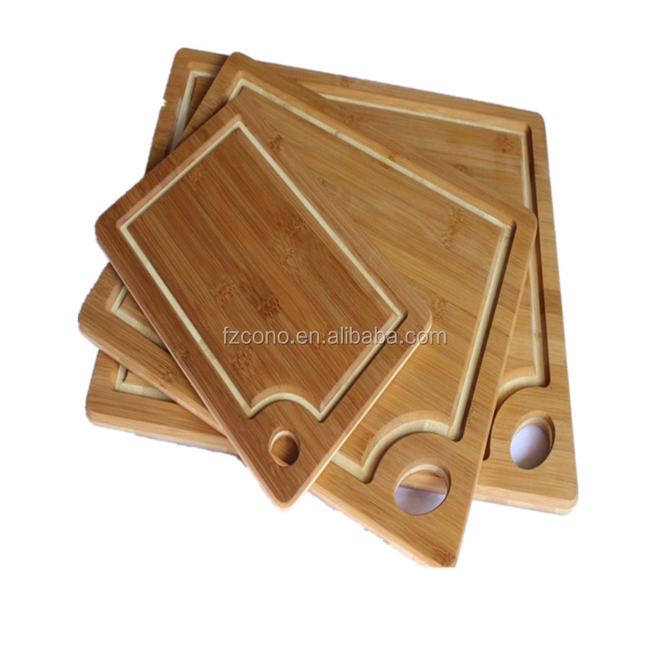 Beautiful Large 100% Organic Bamboo Cutting Board: Wood 18x12 w / Juice Groove. Knife & Eco-friendly!