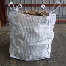 wholesale Ventilated Breathable big mesh firewood bags with loading capacity 1 ton firewood bag