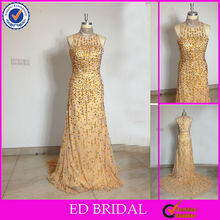 CR02 2013 Latest All Over Beaded Real Sample Evening Dress