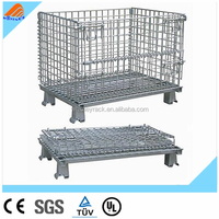china CE collapsible wire mesh container steel wire mesh storage cage
