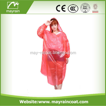 Fashionable cheap colorful recycled plastic rain ponchos