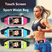 Universal Touch Screen Sports Waterproof Waist Belt bag Case For Samsung Galaxy S4 Mini iPhone 4 4S 5S 6 6S sony z4 nokia 520