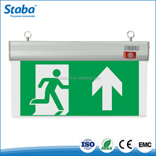 Photoluminescent Rechargeable Acrylic wall mounted fire Emergency led exit sign