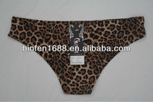 2014 Seamless Bonded Leopard Printoung Models G String Panty