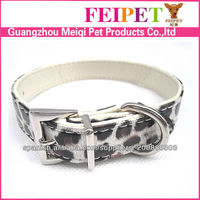 2013 new design durable leopard print dog collars
