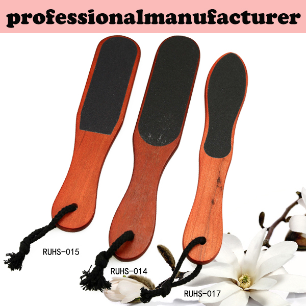 Remove dead hard skin callus OKA wood handle sandpaper pedicure foot rasp