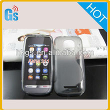 TPU Rubber Gel Case Cover - S-Line S-Design Case Cover for Nokia asha 311