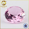 decorative pink large glass gems, round brilliant cut 14mm crystal glass stone