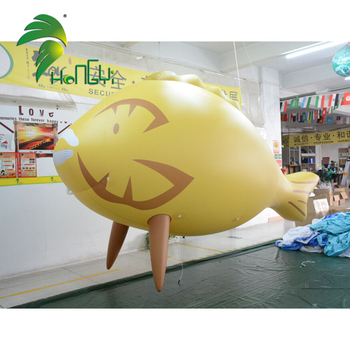 Hongyi Wholesale Inflatable Fish Giant Inflatable Helium Fish Balloon For Event