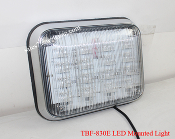 Amber Blue Green Red White led Strobe Warning Flash Light/12V-24V led Square Head Light TBF-830E