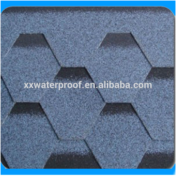 red asphalt shingles roofing for villa garden construction