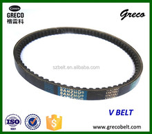 three rubber v belt with teeth