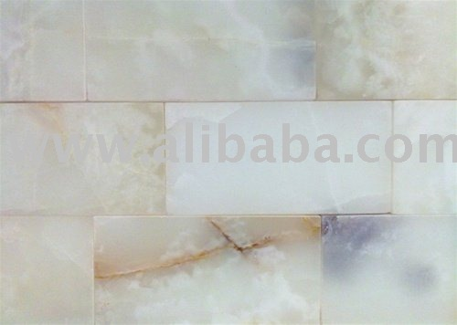 WHITE ONYX POLISHED SUBWAY TILES BRICK KITCHEN BACKSPLASH BATHROOM MARBLE GRANITE TRAVERTINE GLASS SHOWER WALL FLOOR COMPOSITE