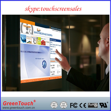 "19""-116"" Transparent Interactive Touch Foil,Transparent Touch Film For Windows glass shop"