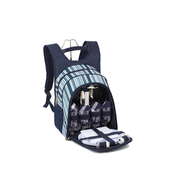 Bottle Wine Cooler Bag With Net Side Pockets