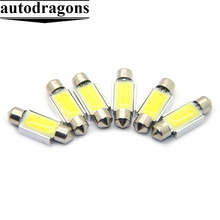 31mm 36mm 39mm 41mm C3W C5W C10W Festoon COB led Car Licence Plate Light Auto Interior Dome lamp Reading Light White