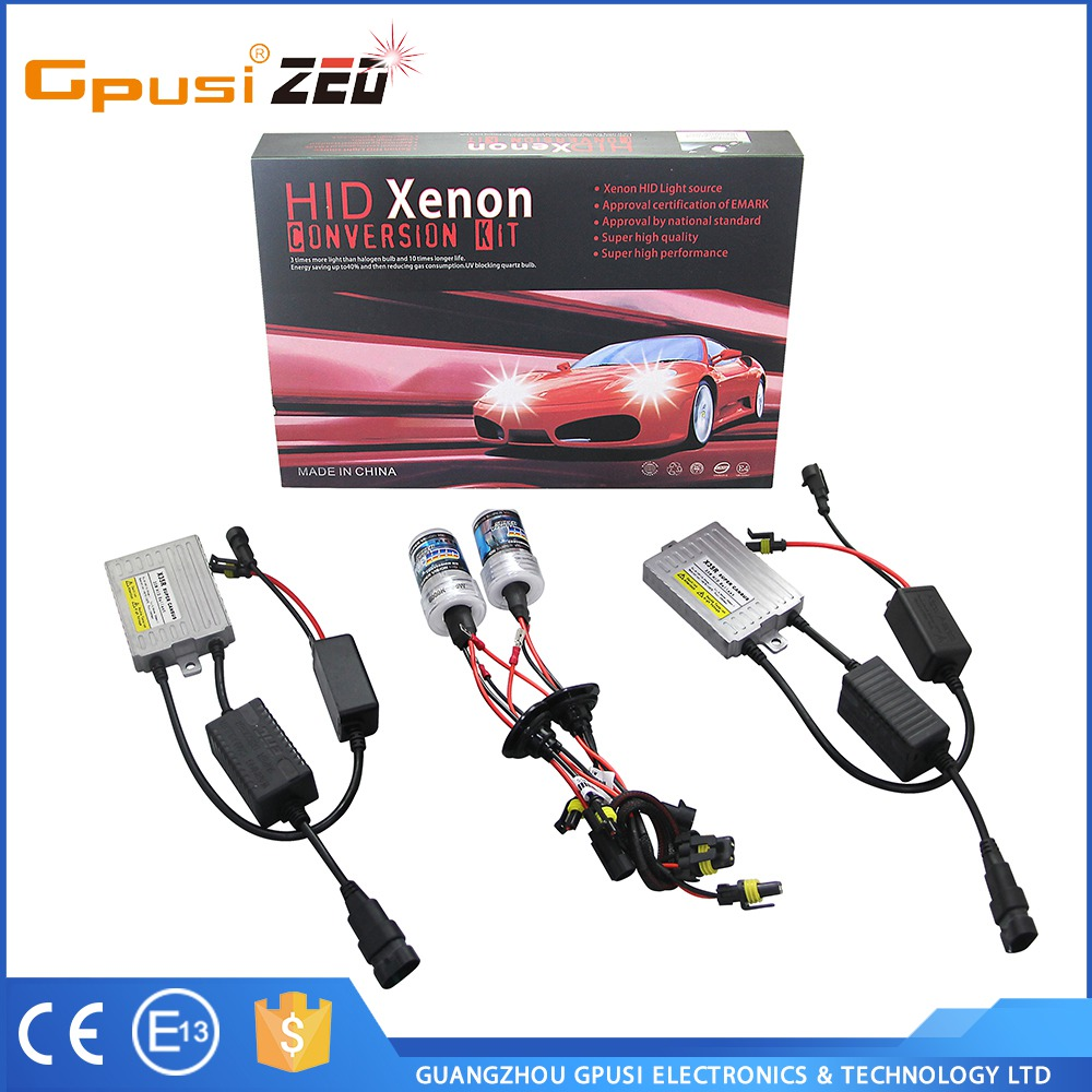 Low Cost Super Vision Hid Car Alarm Light X35R H3 35W 12v AC Canbus HID Ballast Electric Car Motor Conversion Kit