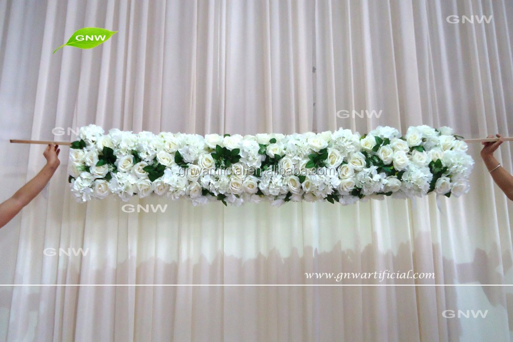 GNW FLW1608031 indian wedding artificial white rose flower garland for wedding decoration