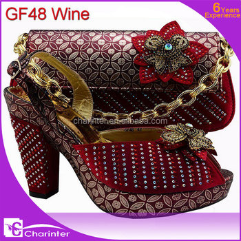 Beautiful Matching Shoe And Bag Sets For LadyAfrican Women Shoes And Bag