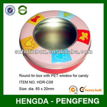 Professional Manufacturer rounded empty tin can