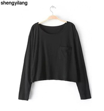 OEM long sleeve 100 cotton t-shirt for women cheap custom t-shirt in guangzhou