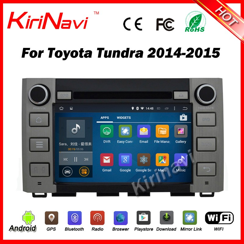 Kirinavi WC-TT8074 android 5.1 touch screen car radio gps for toyota tundra 2014 2015 2016 car dvd player stereo wifi & 3G