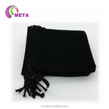 Black Velvet Cloth Jewelry Pouches / Drawstring Bags