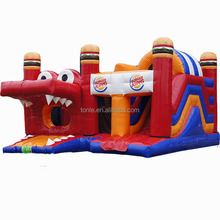 commercial Inflatable Burger King Multiplay bouncy castle/ moonwalk/ bouncer for Sale for kids