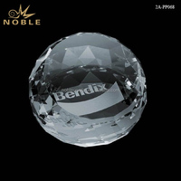 Wholesale Custom Laser Blank Crystal Diamond Cut Ball Paperweight.