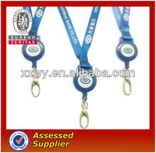 ID Card holder lanyard with pull reel for office use in customized logo