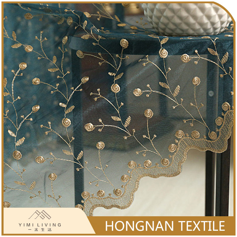 Novelty custom design fancy decorative silk curtain fabric