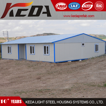 modern collapsible prefab house with conrrugated gable