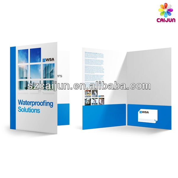 High Quality A4 Presentation Folder With Business Card